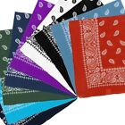 NEW Extra Large Paisley Bandana Bikers Head SCARF in 3 Colours Soft Lightweight