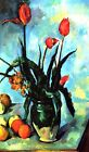 Cezanne Still Life, Vase with Tulips - Giclee Canvas