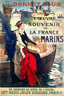 Vintage POSTER.Stylish Graphics in French.Marins!Good Room art Decor.805