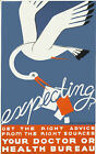 Vintage POSTER.Stylish Graphics.Expecting?Baby Stork.Health Decor. 1011