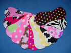 10 x Girls Mix Stay Dry Nappy Diaper Fleece Liners