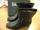 new womans leather dress type black boots,SHOES,high heels many sz's,true size