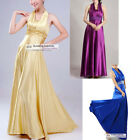 Elegant Satin Dress Long Evening Dress XS~3XL #GF751