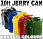 20lt Metal Jerry Can Green Yellow Red Blue Black Silver
