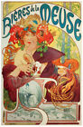 French POSTER.Stylish Graphics.Mucha Meuse.Room and Wall art Decor.290i