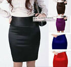 New Womens Ladies Satin Skirt Mini Skirt XS ~ 3XL GF0640