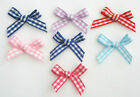 Pack of 20 x 7mm Gingham Ribbon Bows