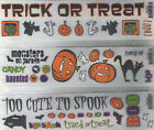 *HALLOWEEN* Rub-On Transfers Reminisce Choice WINTER-SCHOOL-TRICK or TREAT +more