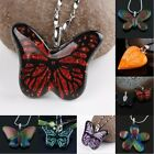 Dichroic Foil Colored Lampwork Glass Butterfly Charms Pendant Bead Finding