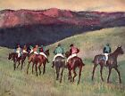 Degas Of Running Horses Training - Stretched Giclee Canvas