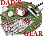 Dad's Gear Golfing White Short Sleeve T-Shirt Any Size ~ Great Gift ~