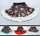 Full Circle Chiffon + Lacy Skirt Knee-Length Skirt XS ~ 3XL