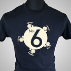 The Prisoner Number 6 Retro TV Series T Shirt Dangerman Vintage Cool Hipster Tee