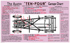 Austin Ten Four Garage Chart Vintage Advertising Picture Print Poster A1
