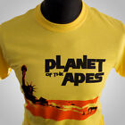 Planet of The Apes Retro Movie T Shirt Sci Fi Vintage 1968 Cool Hipster Yellow