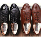 New Handmade Mens Leather Casual Black Brown Lace Up Sneakers Shoes
