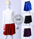 New Womens Ladies Full Circle Mini Skirt Velvet Skirt XS ~ 3XL GF0647