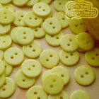 14mm Yellow Flat Round Buttons Sewing Scrapbooking Cardmaking Craft