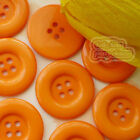 Orange 4 Holes Plastic Buttons Sewing Cardmaking Scrapbooking 17mm,27mm,33mm