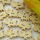 Milch Cow 15mm Wood Buttons Sewing Scrapbooking Craft NCB002