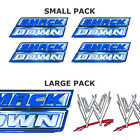 WWE SMACKDOWN LOGO bedroom wrestling wall STICKER PACK, SMALL or LARGE stickers