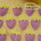 Purple Strawberry Appliques Padded Craft Sewing Scrapbooking Trimming APQE