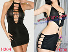 Bridal Halter Short One-piece Tight Dress Supper Mini Night Clubwear, Black,2pc