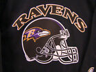 Baltimore RAVENS:  Black LS Tee, Sizes S, M, L, XL, 2XL, 3XL, 4XL, 5XL