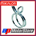 10 Pack MIKALOR Double Wire Spring Type Fuel Hose Clips Clamps Silicone Pipe