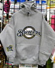 Milwaukee BREWERS, Gray HOODIE S, M, L, XL, 2XL, 3XL, 4XL, 5XL