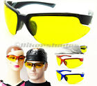 Z87 YELLOW Safety Glasses Anti Glare Night Motorcycle Riding Driving Cycling