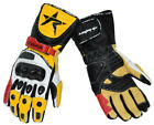 YELLOW Leather Motorbike Motorcycle Gloves 4 DUCATI TRIUMPH SUZUKI Sports BIKERS
