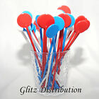"7"" RED/WHITE/BLUE UNION JACK COLOURED COCKTAIL STIRRERS STICKS"