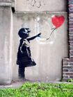 Banksy Street Artist Girl with Red Balloon 3 Print Canvas A4 A3 A2 A1