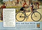 Vintage Old Transport Poster BSA Gold Band Bicycle Print Art A4 A3 A2 A1