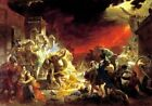 The Last Day Of Pompeii Picture Reproduction Art Print A4 A3 A2 A1