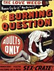 Vintage Old Movie Poster The Burning Question 02 Print Art A4 A3 A2 A1