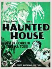 Vintage Old Movie Poster The Haunted House 1928 02 Print Art Canvas A4 A3 A2 A1