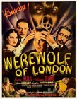Vintage Old Movie Poster Werewolf Of London 1935 03 Print Art Canvas A4 A3 A2 A1