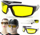 Yellow Safety Glasses Goggles Motorcyle Hunting Cycling Night Vision Driving Men