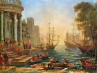 SEAPORT WITH THE EMBARKATION OF ST URSULA REPRO Art Print A4 A3 A2 A1