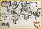 Vintage Map 107 Africa & South America Globe Atlas Art Print A4 A3 A2 A1