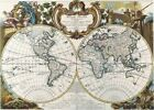 Vintage Map 12 The World Globe Atlas Art Print A4 A3 A2 A1