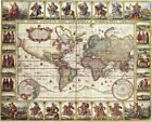 Vintage Map 27 The World Globe Atlas Art Print A4 A3 A2 A1