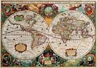 Vintage Map 72 The World Globe Atlas Art Print A4 A3 A2 A1
