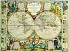 Vintage Map 73 The World Globe Atlas Art Print A4 A3 A2 A1