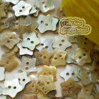 Star 11mm Mother Of Shell Buttons Sewing Scrapbooking Beads Craft MOPSB02
