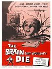 THE BRAIN THAT WOULDN'T DIE REPRODUCTION ART PRINT A4 A3 A2 A1