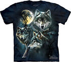 MOON WOLVES - Green Wolf T-Shirt - The Mountain Classic Tie-Dyed Tee -10-3309