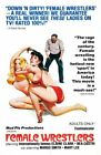 Vintage B Movie Poster Female Wrestlers Print Art A4 A3 A2 A1